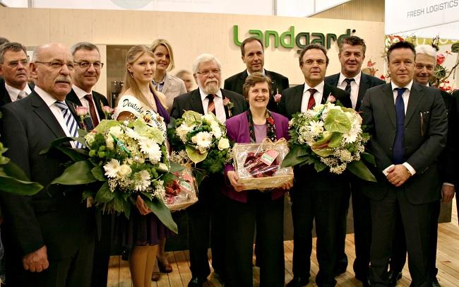 Landgard_Bundesminister Friedrich besucht Landgard Stand