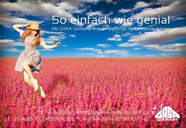 GASA Germany Herbst Slogan - So einfach wie genial