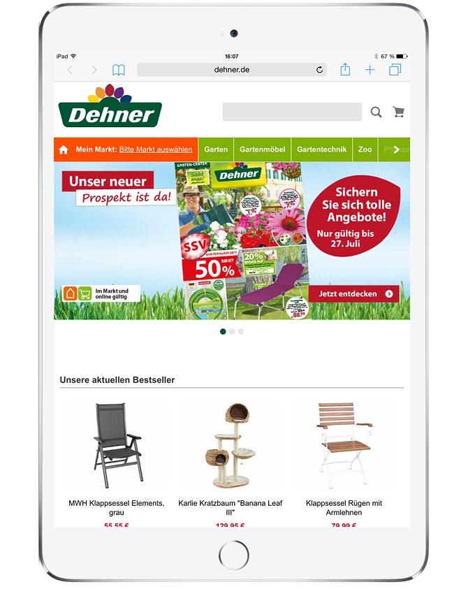 Dehner-iPad-Home (c) Sevenval