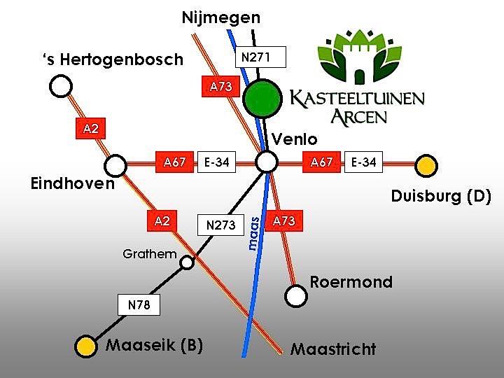 Arcen Routekaartje