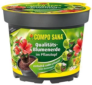 COMPO_SANA_Qualitaets-Blumenerde_im_Pflanztopf 2