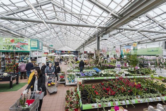 Das angeschlossene Gartenfachmarkt-Center FLORALAND begeistert Kunden