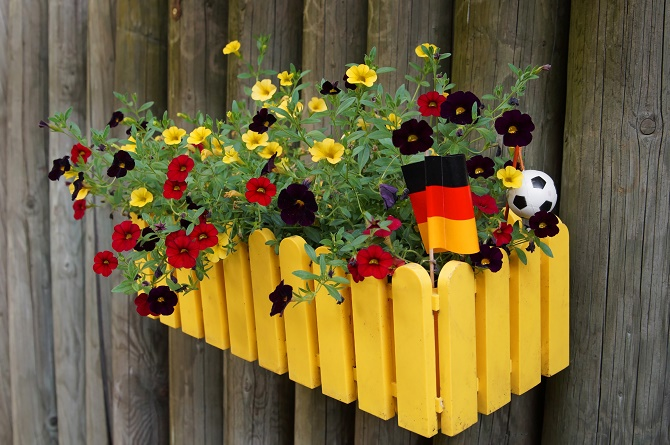 Blumenkasten zur Weltmeisterschaft