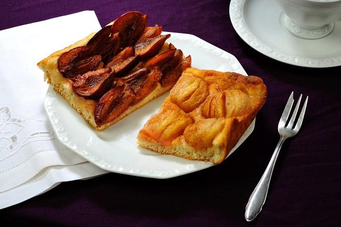 Bildunterschrift: Dieser Kuchen gelingt garantiert - und er schmeckt mit Zwetschen genauso köstlich wie mit Äpfeln. (Bildnachweis: GMH)